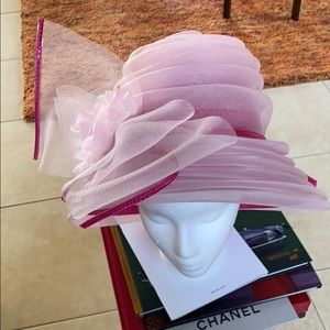 COTTON CANDY PINK Derby Church Easter Hat